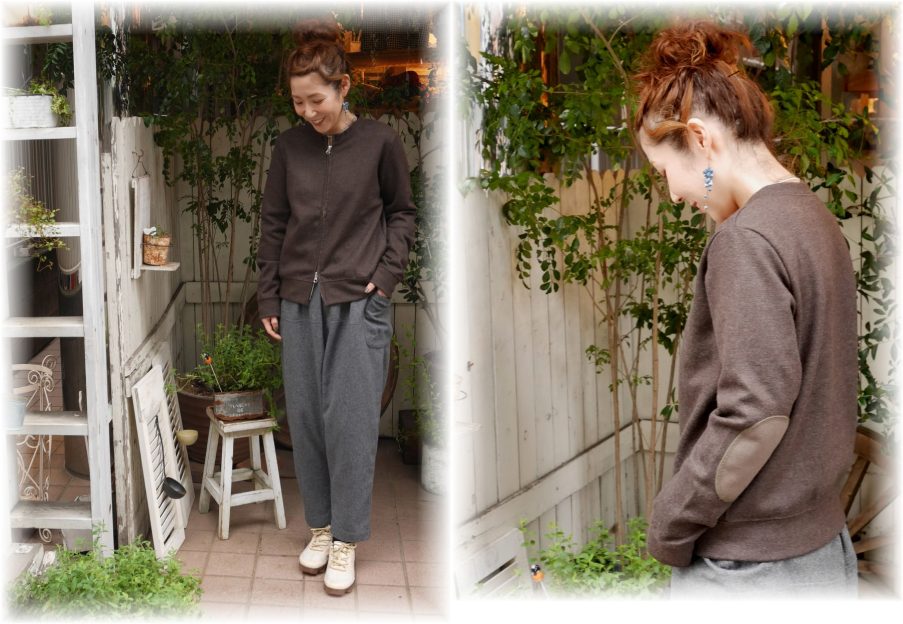 style+confort</span></br>圧縮ウールジップアップジャケット