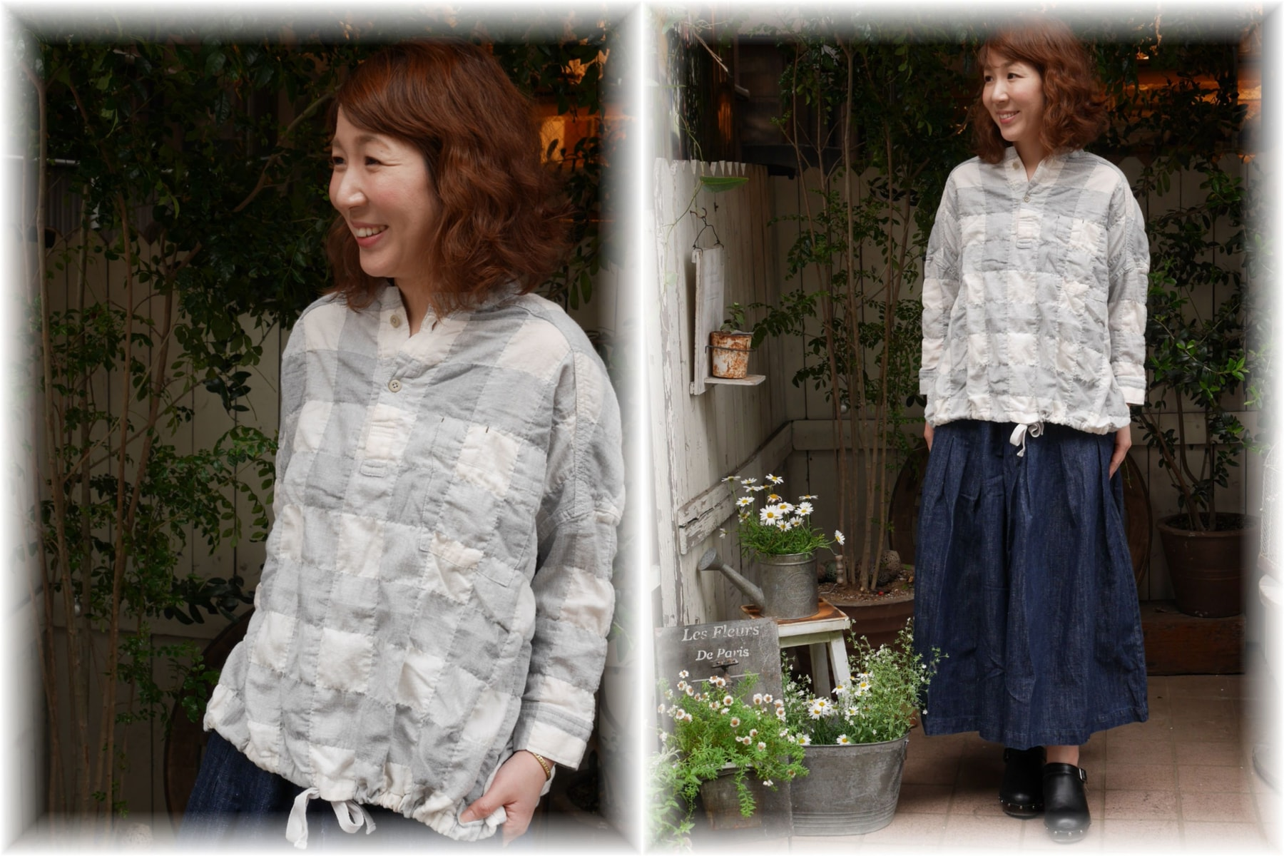 sugatakatachi</span></br>コットンブロックチェックバルーンシャツ<font color=#ff0000>SOLD OUT</font>