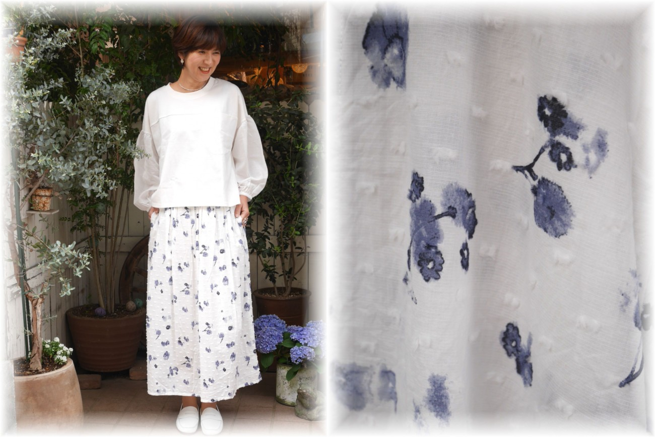 ichi</span></br>フラワースカート