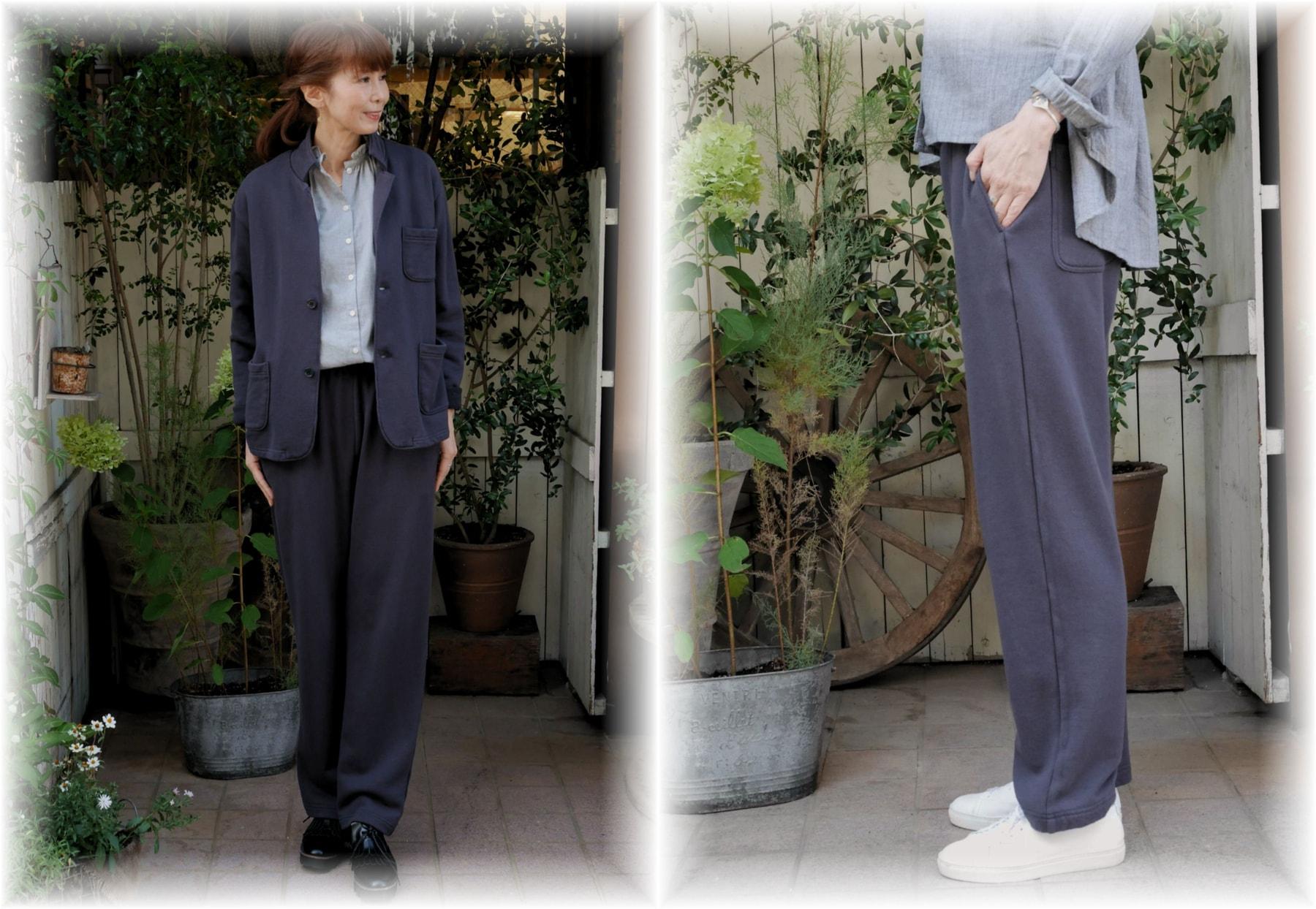 style+confort</span></br>コーマ裏毛リラックスパンツ