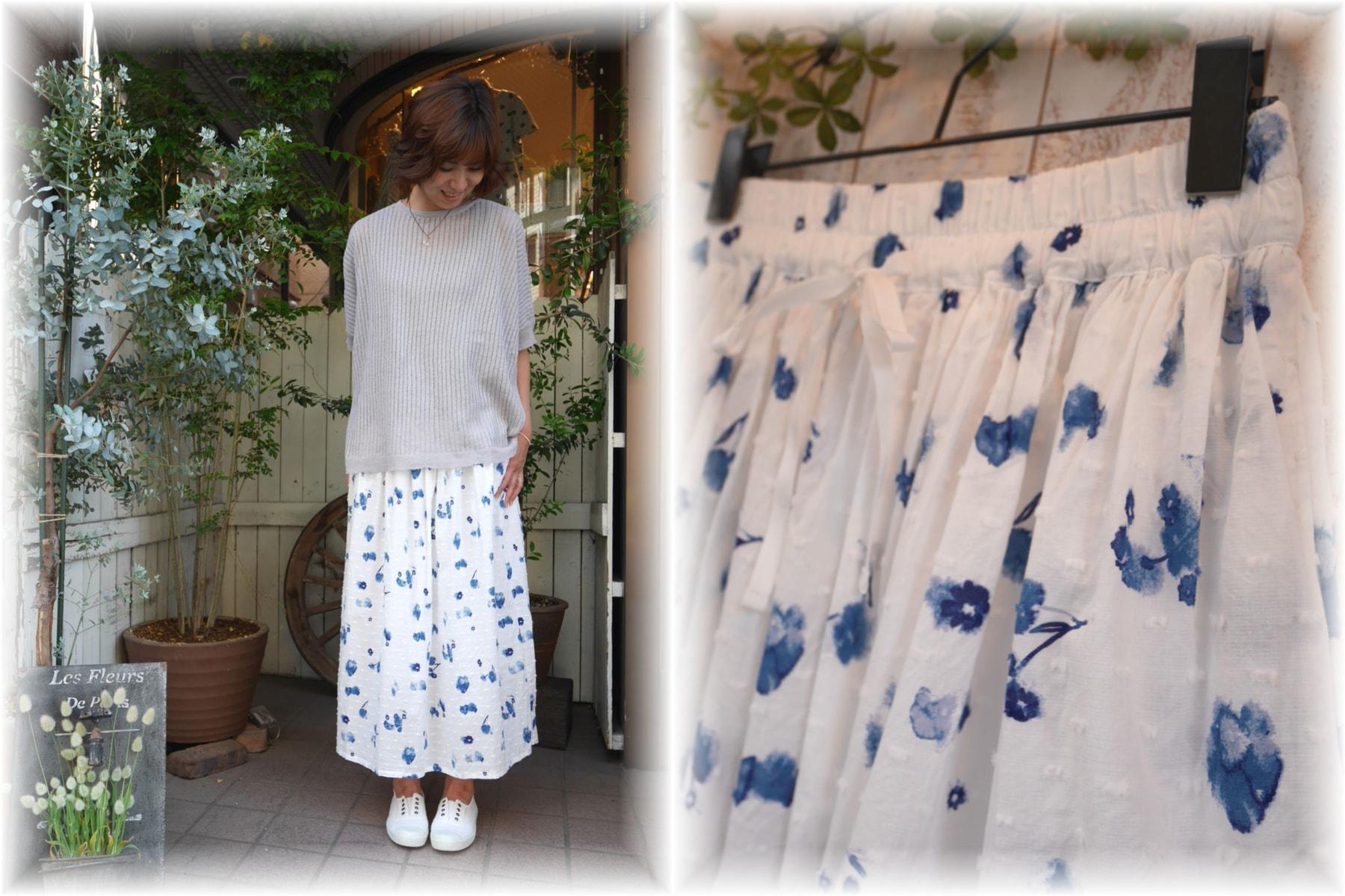 ichi</span></br>再値下げ フラワースカート